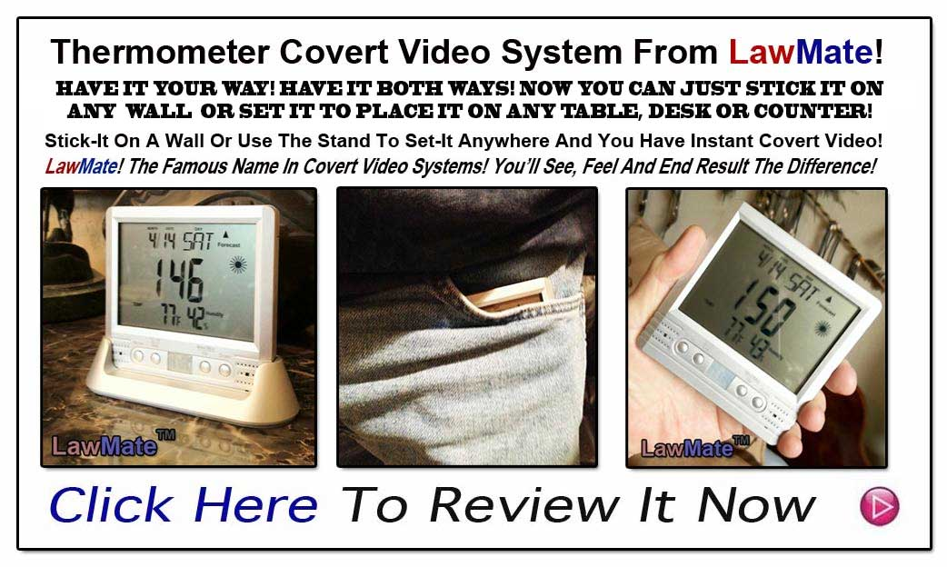 Thermometer Covert Video System From LawMate!