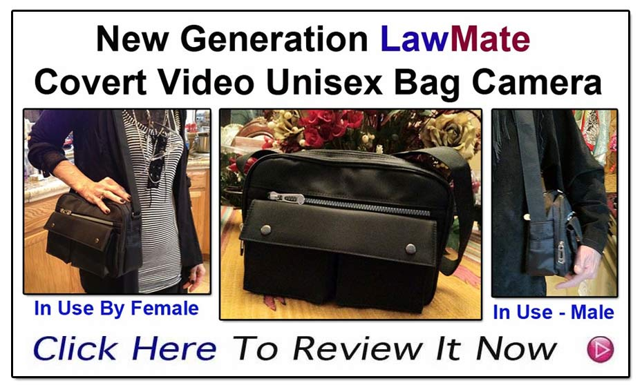 New Generation Bag Camera From LawMate- The famous name in covert video- www.pimall.com/nais