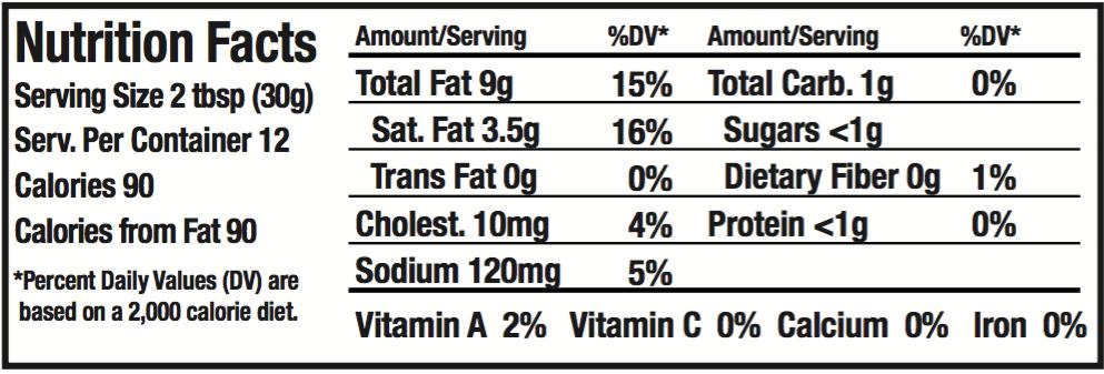 OMG! Onion Dip Nutritional Info