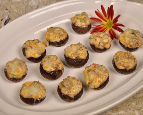 Palmetto Cheese Sausage Mushrooms