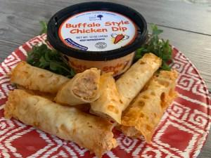 Buffalo Chicken Dip Cheese Wraps