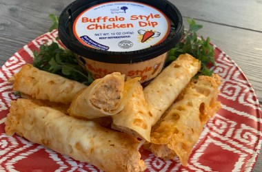 Buffalo Chicken Dip Cheese Wraps