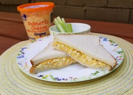 palmetto cheese deviled egg sandwich