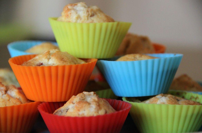 "Mini muffins con melocotón y ""amaretti"" | Pimienta y Purpurina"