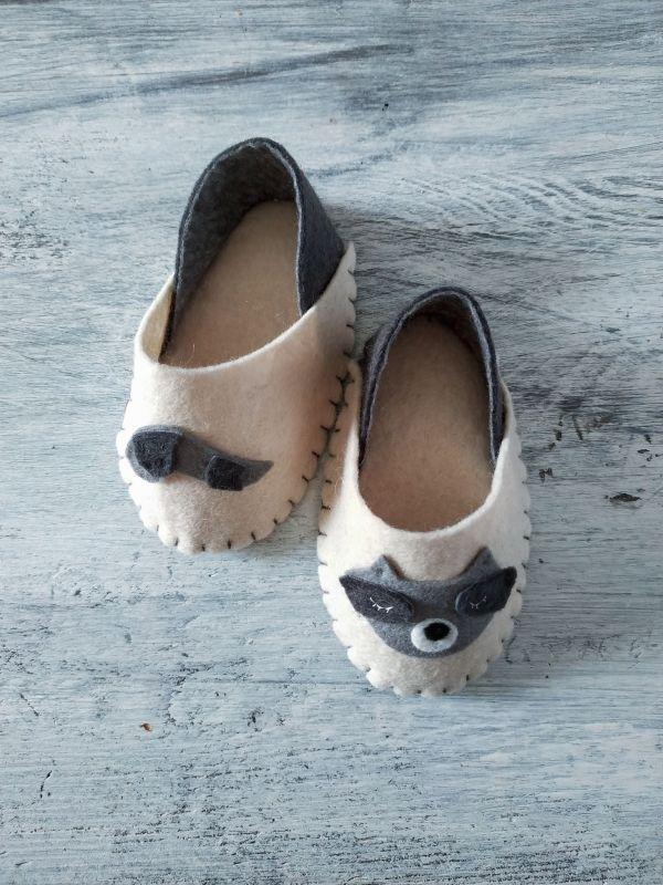 Colección Born to be wild - Zapatillas para bebés de 0-3 meses - Mapache | Pimienta y Purpurina
