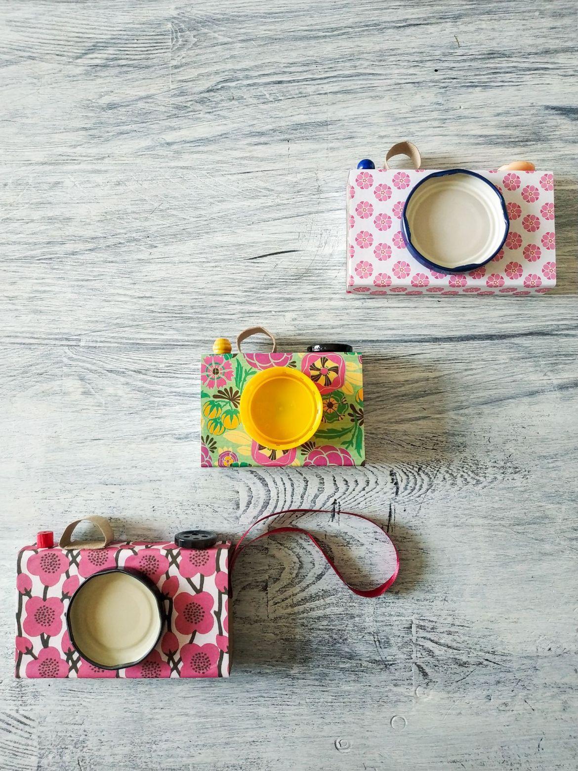 Cómo hacer una cámara de fotos reciclando | Pimienta y Purpurina