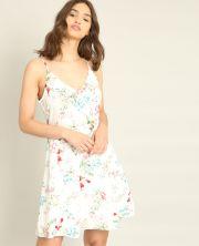 Robe imprimé fleuri blanc