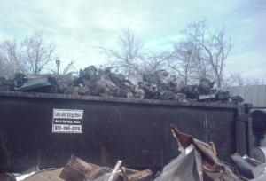 Lawn Mower Engines at Scrap Metal Yard