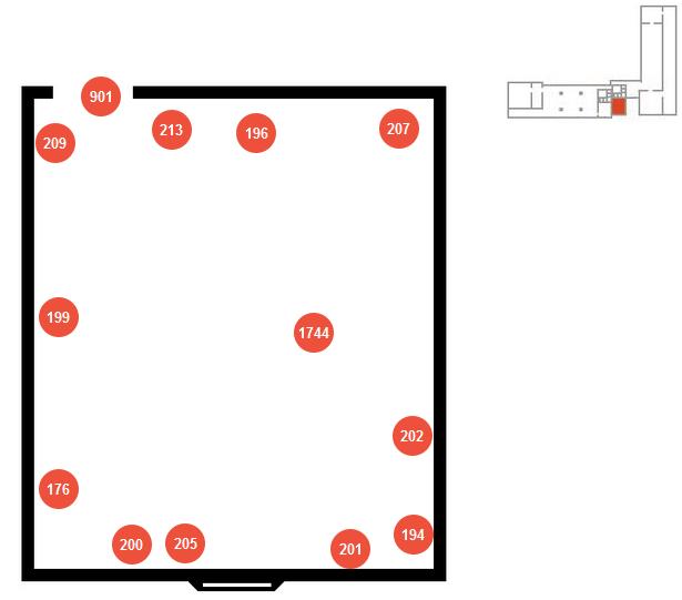 Mappa della sala Manfredi