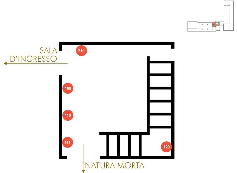 Mappa della sala Marco Palmezzano