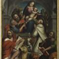 Antonio di Mazzone, Madonna col Bambino e i SS. Pietro, Paolo, Domenico, Luca e Marco Evangelisti