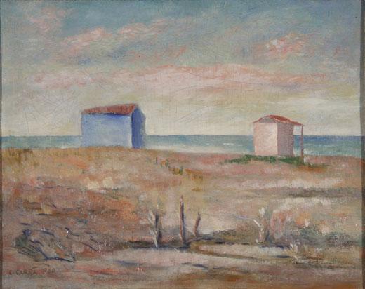 Carlo Carrà, Marina at Forte dei Marmi
