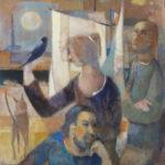 Paolo Cavinato, Figure, 1970-1980, Olio su tela, 70x80 Firmato in alto a destra