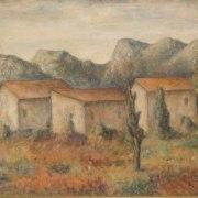 Fiorenzo Tomea (Zoppè di Cadore, 1910 - Milano, 1960), Paesaggio cadorino