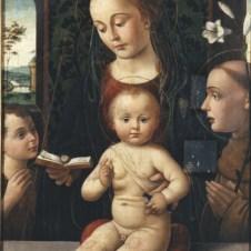 Biagio d'Antonio da Firenze (Firenze, 1446 ca. - documentato fino al 1510), Madonna col Bambino e i Santi Giovannino e Antonio da Padova