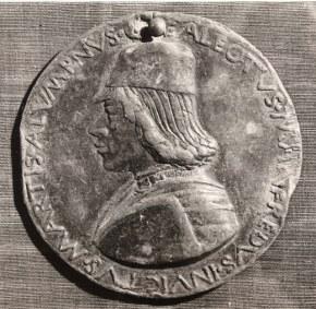 Sperandio Savelli, Medaglia con effigie e insegne di Galeotto Manfredi