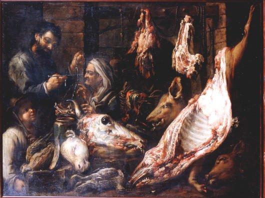 Boselli Felice, Butcher's: interior of a shop