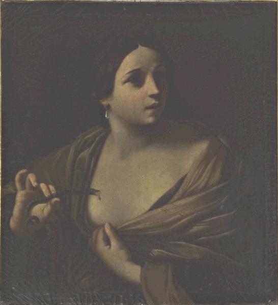 Anonimo Bolognese, Cleopatra porta l'aspide al petto