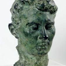 Auguste Rodin (Parigi, 1840 - Meudon, 1917), Ritratto della moglie Rose Beuret
