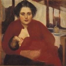 Domenico Baccarini (Faenza, 1882 - 1907), La Bitta che allatta Maria Teresa