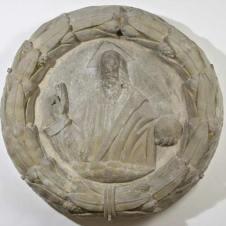 Pietro Barilotto, attr. (Faenza, 1481 - 1553), Padre eterno benedicente