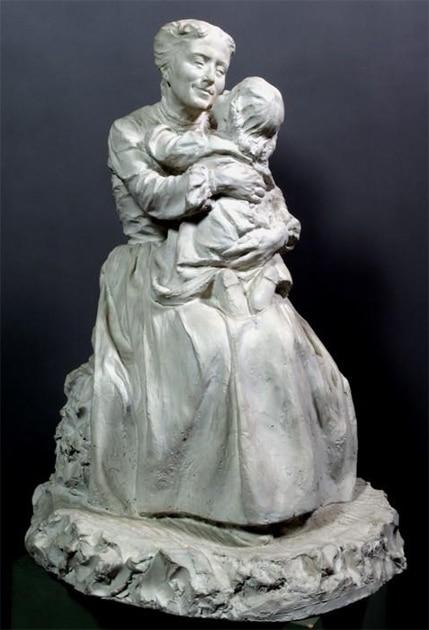 Domenico Baccarini, Bacio materno gesso, [1905]