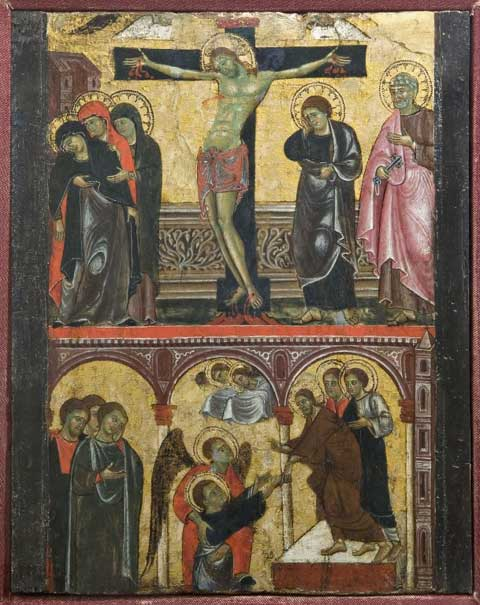 Master of Faenza, Crucifixion and Assumption of St. John the Evangelist