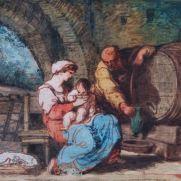 FELICE GIANI (1758-1823) Sacra Famiglia Tempera grassa su tavola, 35 x 48 Inv. n. 492 Provenienza: donazione Zauli Naldi, 1965, n. 53