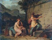 FELICE GIANI (1758-1823) Et in Arcadia ego Olio su tela, cm 26 x 36 Inv. n. 482 Provenienza: donazione Pozzi, 1931, n. 33
