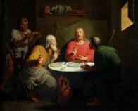 TOMMASO MINARDI (1787-1871) La cena in Emmaus Olio su tela, cm 54 x 65,5 Inv. n. 930 Provenienza: depositato dalla Congregazione di Carità di Faenza