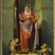 TOMMASO MINARDI (1787-1871) Santa Elena imperatrice Olio su carta, cm 53 x 59 Inv. n. 926 Provenienza: donazione Ovidi, 1916, n. 20