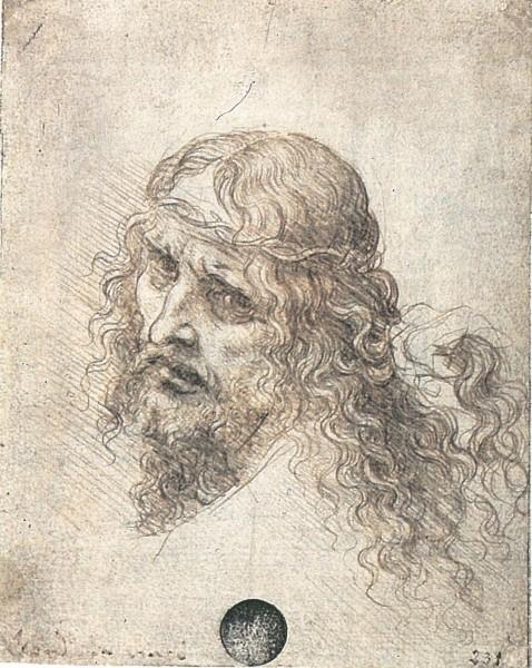 Studio per la testa di Cristo