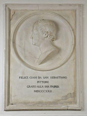 Cincinnato Baruzzi, Ritratto di Felice Giani