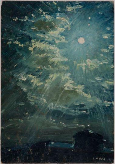 Giacomo Balla, Impressione pittorica dei pianeti Saturno e Giove intorno alla Luna