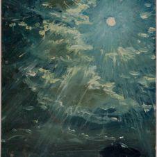 Giacomo Balla (Torino, 1871 - Roma, 1958), Impressione pittorica dei pianeti Saturno e Giove intorno alla Luna