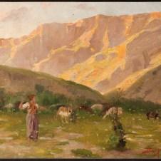 Tommaso Dal Pozzo (Faenza, 1862 - 1906), Pastora tra i calanchi