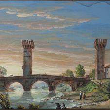 Romolo Liverani (Faenza, 1809 - 1872), Faenza: il ponte con le torri