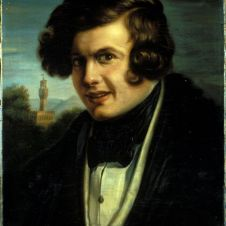Achille Farina (Faenza, 1804 - 1879), Ritratto di Ludovico Caldesi