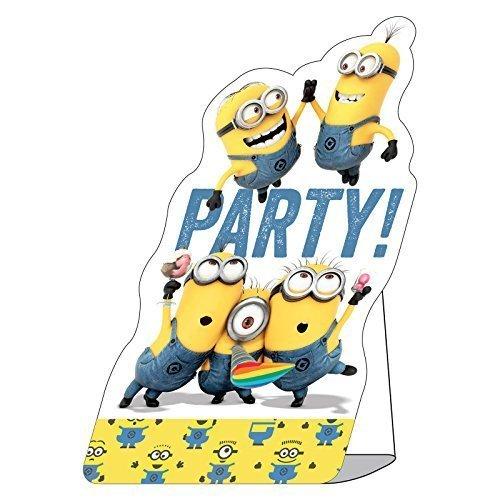8 invitations d anniversaire les minions enveloppes incluses