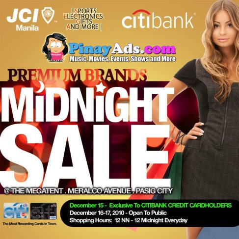 FREE entrance to the Premium Brands Midnight Sale at the Megatent courtesy of Pinay Ads