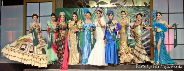 Top 10 finalists of Miss Philippines Earth 2011