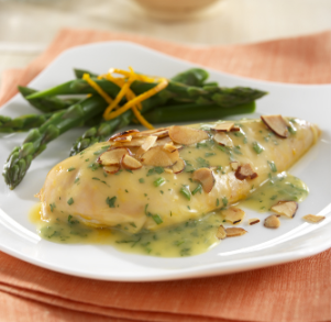 Citrus Glazed Chicken with Almonds