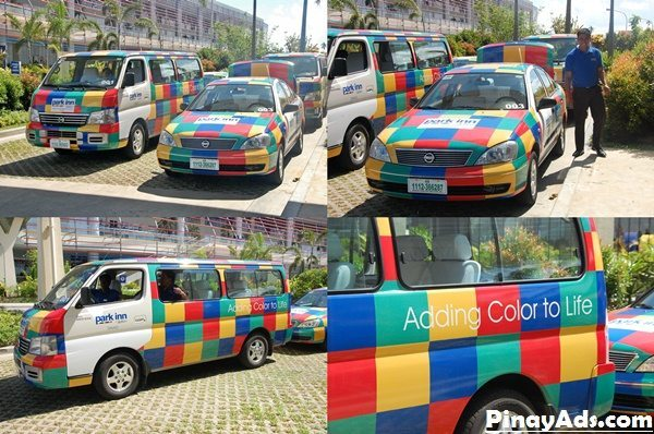 Park Inn By Raddison Davao's shuttles are very colorful and all brand new, plus the drivers are very friendly.