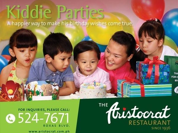 Celebrate your Kid's Party at The Aristocrat