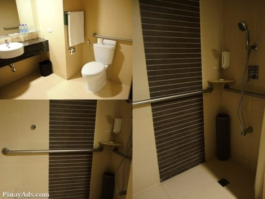 spacious and modified bathrooms to ensure maximum comfort and safety