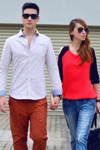 Guys can dress up any look with crisp long sleeves, while girls can add interest to any outfit with cutouts