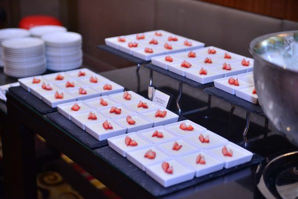 Marriott Hotel Manila's low-fat and sugar-free panna cotta with fresh strawberry, which is part of their Fit and Fab menu