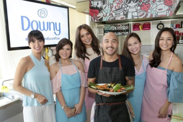 Chef JP Anglo exclusively prepared several everyday Pinoy dishes which emit strong odors intended to really put Downy to the malodor removal challenge.