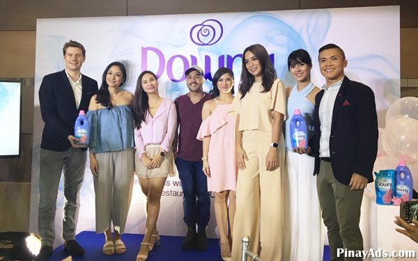 (From left to right) Cedric LeGoff, Brand Manager, Downy, P&G; Kelly Misa-Fernandez, Patty Laurel, Chef JP Anglo, Camille Prats, Pia Guanio, Bianca Gonzalez; Louie Morante, Regional Communications Manager, Fabric & Home Care, P&G