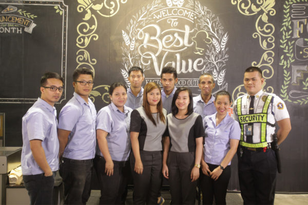 3rd from right Princess Guia Sales and Operations Supervisor and Best Value Team